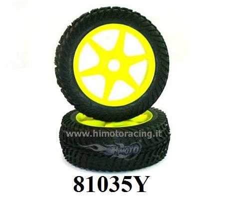 82829 Räder Complete Kreise Weiße 1:16 Wheel And Rim Complete 2PZ HIMOTO