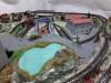 Diorama Plastico Ferroviario costuito artigianalmente con stazione e galleria completo di impianto elettrico
